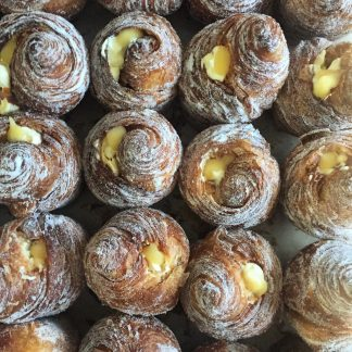 A selection of passionfruit cruffins