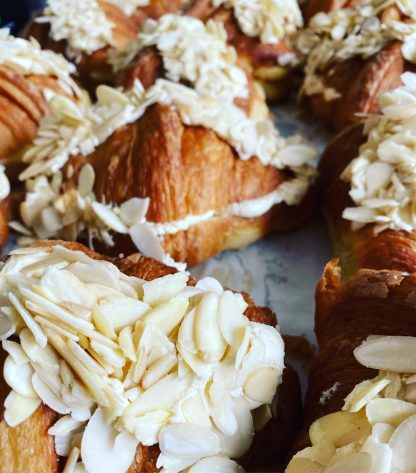 A selection of amoretto almond croissants